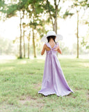 lavender rustic flower girl dresses purple floral Easter high low dresses