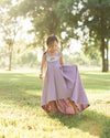 little girls rustic floral Easter dress flower girl high low dresses