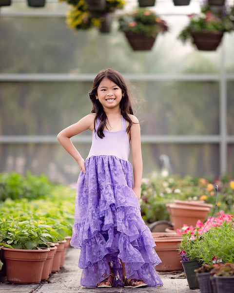 bohemian high low maxi dress junior bridesmaid - Belle & Kai