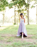 rustic lavender flower girl dresses floral Easter high low dress