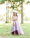 rustic lavender flower girl dresses floral Easter high low dresses