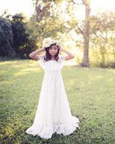 bohemian white lace first communion baptism dress - Belle & Kai