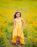 linen yellow bohemian flower girl high low maxi dress - Belle & Kai