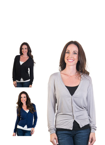 Short Button Front Cardigan 3-Pack