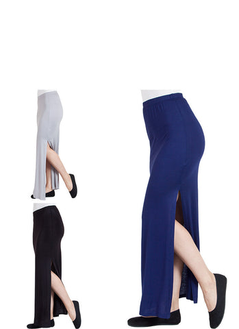 Side Slit Maxi Skirt 3-Pack