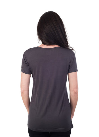 Basic Rayon Crew Neck T-Shirt