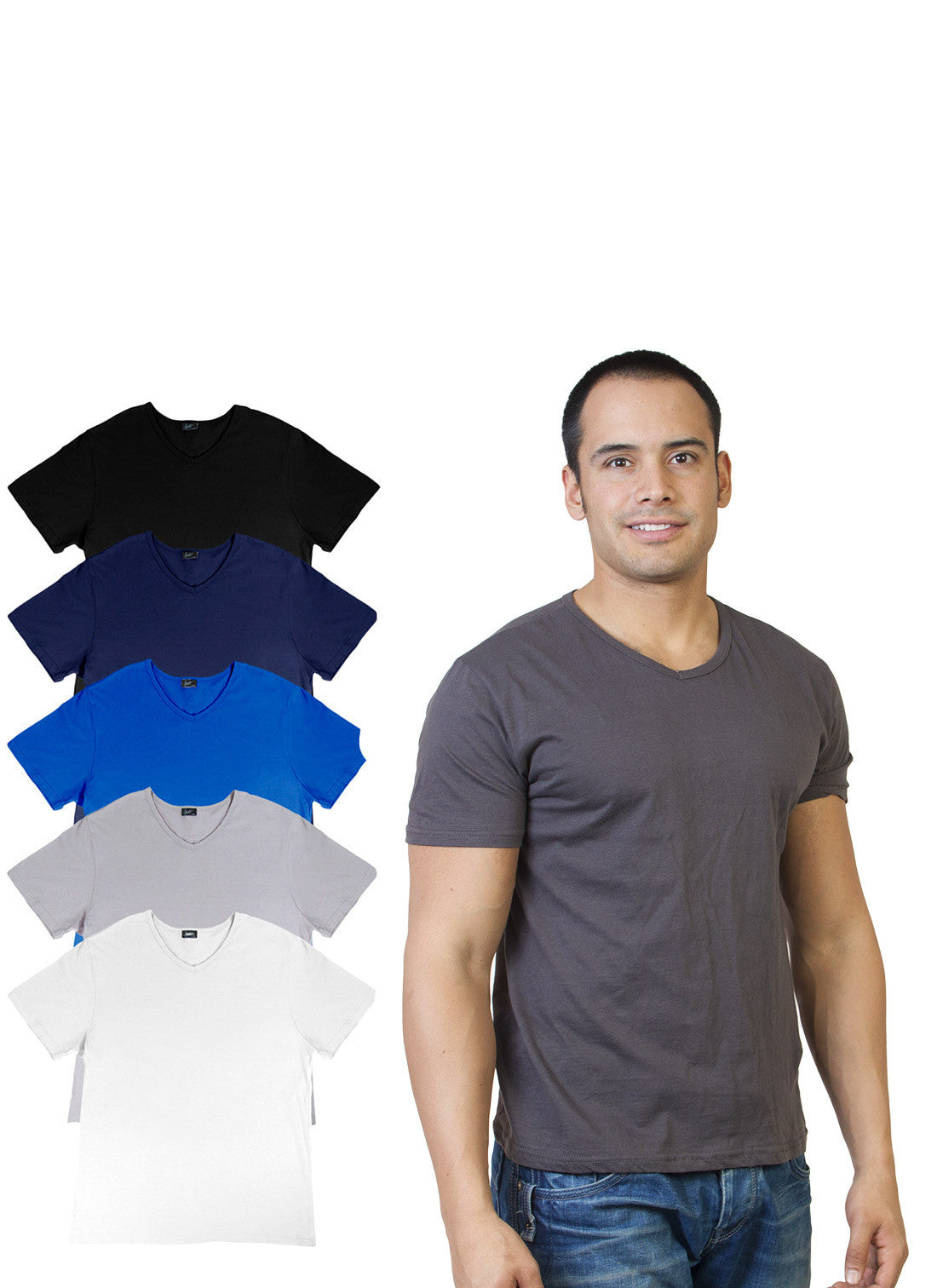 Basic V Neck T-Shirt 6-Pack