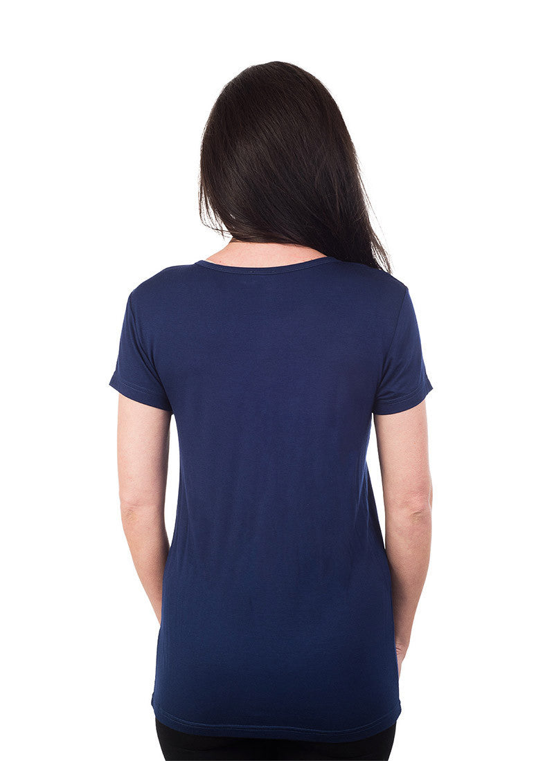 Basic Rayon V Neck T-Shirt