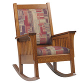 Mission Arts and Crafts Prairie Spindle Rocking Chair - Harvest Home Interiors