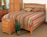 Image of customizable, solid wood Madison Mission Bed and Nightstand from Harvest Home Interiors Amish Furniture