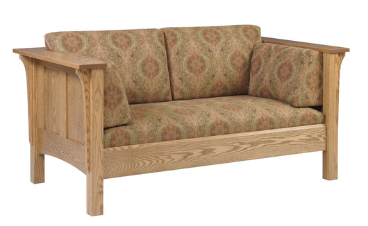 Shaker Prairie Panel Deluxe Loveseat - Harvest Home Interiors