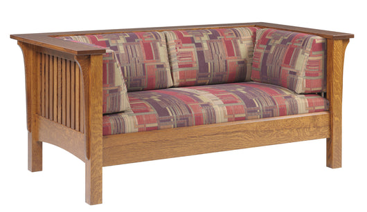 Mission Arts and Crafts Prairie Spindle Loveseat - Harvest Home Interiors
