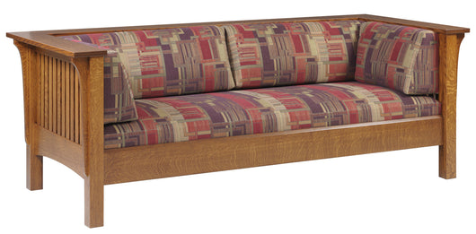 Mission Arts and Crafts Prairie Spindle Sofa - Harvest Home Interiors
