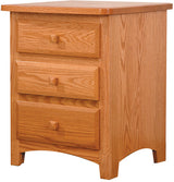 Image of customizable, solid wood Classic Shaker Nightstand from Harvest Home Interiors Amish Furniture