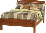 Image of customizable, solid wood Classic Shaker Bed with Rail Footboard from Harvest Home Interiors Amish Furniture