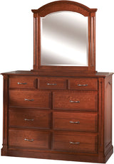 Image of customizable, solid wood Legacy High Dresser with Mirror from Harvest Home Interiors Amish Furniture