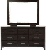Image of customizable, solid wood Zenith Dresser with Mirror from Harvest Home Interiors Amish Furniture
