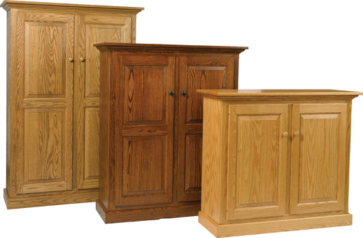 Solid Wood Raised Panel Double Door Bookcase Pie Safe available from Harvest Home Interiors Amish Furniture