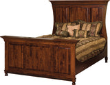 Image of customizable, solid wood Henry Stephen's Bed with Regular Footboard from Harvest Home Interiors Amish Furniture