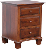 Image of customizable, solid wood Willow Nightstand from Harvest Home Interiors Amish Furniture