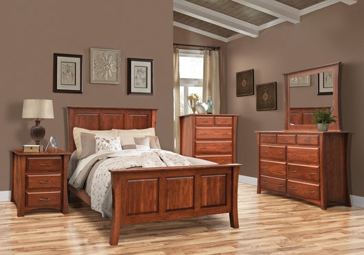 Image of customizable, solid wood Cove Bedroom Set from Harvest Home Interiors Amish Furniture