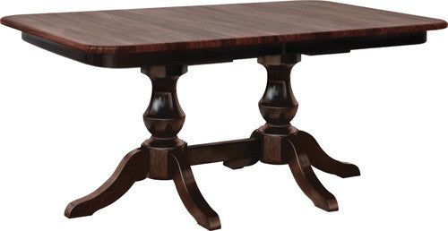Denver Double Pedestal Table - Harvest Home Interiors