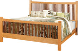 Handcrafted Stickley Style solid wood East Metro Bed with Regular Footboard from Harvest Home Interiors Amish Furniture