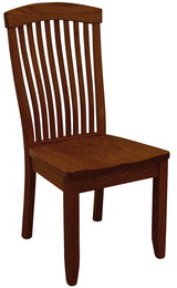 Solid wood and handcrafted mission style Empire Dining Side Chair from Harvest Home Interiors