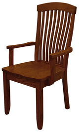 Solid wood and handcrafted mission style Empire Arm or Captain Chair from Harvest Home Interiors