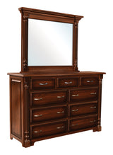 Image of customizable Ashley Shaker Style Dresser with Mirror from Harvest Home Interiors Amish Furniture