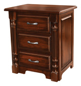Image of customizable Ashley Shaker Style Three Drawer Nightstand from Harvest Home Interiors Amish Furniture