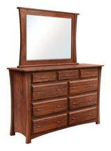Image of customizable, solid wood Cove High Dresser with Mirror from Harvest Home Interiors Amish Furniture