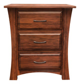Image of customizable, solid wood Cove Nightstand from Harvest Home Interiors Amish Furniture