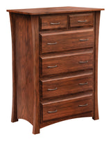 Image of customizable, solid wood Cove Chest of Drawers from Harvest Home Interiors Amish Furniture