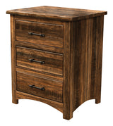 Image of customizable Barn Floor Reclaimed Wood Shaker Style Night Stand from Harvest Home Interiors Amish Furniture
