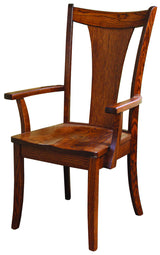 Solid Wood, Handcrafted Falcon Captain (Arm) Chair from Harvest Home Interiors Amish Furniture