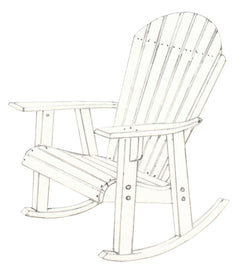 Adirondack Rocking Chair - Harvest Home Interiors
