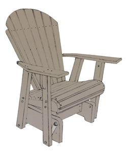 Adirondack Single Glider Rocker - Harvest Home Interiors