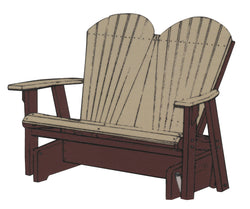 Adirondack Double Glider Rocker - Harvest Home Interiors