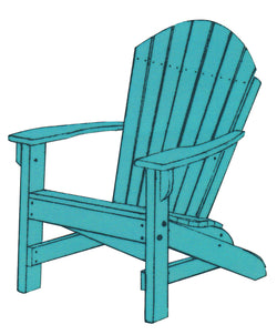 Traditional Handcrafted Weather Resistant and Weather Proof Amish Polywood Adirondack Chair from Harvest Home Interiors Amish Furniture