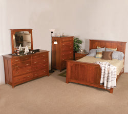 Image of customizable, solid wood LeGrande Bedroom Collection from Harvest Home Interiors Amish Furniture