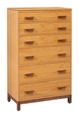 Solid Wood and Handcrafted East Metro Chest of Drawers from Harvest Home Interiors Amish Furniture