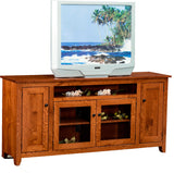 "Rustic Quartersawn 70"" Mission Style TV Stand - Harvest Home Interiors"