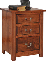 Image of customizable, solid wood Queen Esther Nightstand from Harvest Home Interiors Amish Furniture