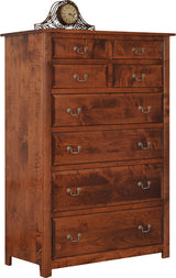 Image of customizable, solid wood Queen Esther Chest of Drawers from Harvest Home Interiors Amish Furniture