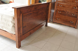Image of customizable, solid wood optional Queen Esther Regular Footboard from Harvest Home Interiors Amish Furniture
