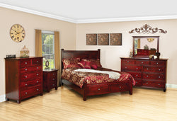 Image of customizable, solid wood Riverside Bedroom Collection from Harvest Home Interiors Amish Furniture