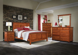 Image of customizable, solid wood Rockwell Bedroom Set from Harvest Home Interiors Amish Furniture