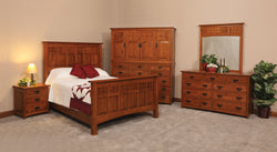 Image of customizable, solid wood Royal Santa Fe Mission Style Bedroom Set from Harvest Home Interiors Amish Furniture
