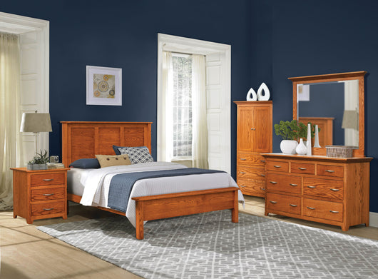 Image of customizable, solid wood Shaker Style Bedroom Set from Harvest Home Interiors Amish Furniture